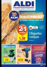 Prospectus Aldi Aulnay-sous-Bois : Anniversaire Déraisonnable