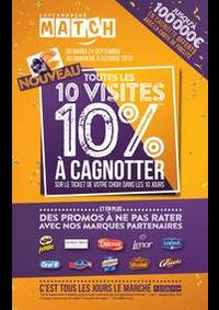 Prospectus Supermarchés Match Villeneuve D'Ascq Cousinerie : Toutes les 10 visites, 10% à cagnotter