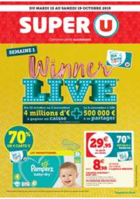 Prospectus Super U ECOUEN : SEMAINE 1 WINNER LIVE
