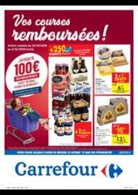 Prospectus Carrefour MARCHE : Vos courses remboursées !