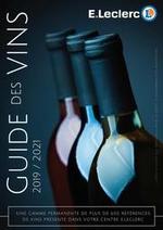 Prospectus  : Guide des vins 2019/2021