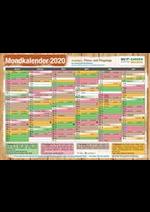 Promos et remises  : Mondkalender 2020