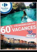 Bons Plans Carrefour : 60% d'économies sur vos vacances