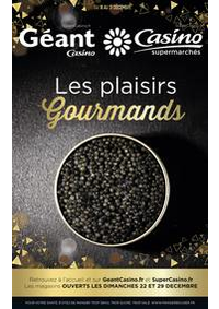 Prospectus Supermarchés Casino PARIS 28 - 34 rue de Ménilmontant : Les plaisirs gourmands