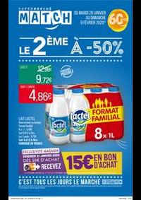 Prospectus Supermarchés Match Halluin : Le 2ème à -50%