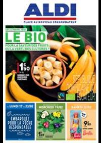 Prospectus Aldi Argenteuil : Le BIO, pour la saveur des fruits ou la vertu des cultures