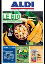 Prospectus Aldi : Le BIO, pour la saveur des fruits ou la vertu des cultures