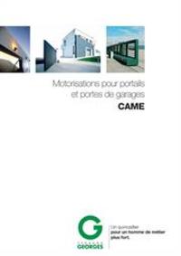 Prospectus Fernand GEORGES ALLEUR : Motorisations pour portails et portes de garages