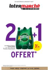 Prospectus Intermarché Super Chilly Mazarin : 2 + 1 OFFERT