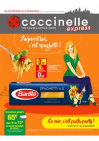 Prospectus Coccinelle Express EPINAY SUR SEINE : Aujourd'hui c'est spaghetti!