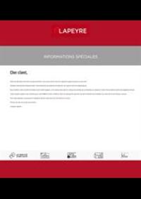 Prospectus Lapeyre Arcueil : Informations Spéciales