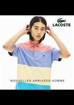 Catalogues et collections Lacoste : NOUVELLES ARRIVEES HOMME