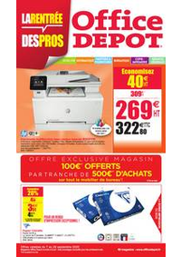 Prospectus Office DEPOT : LA RENTRÉE DES PROS !