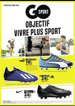 Prospectus Go Sport : Objectif vivre plus sport