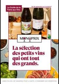 Prospectus Monoprix CLERMONT FERRAND : La sélection des petits vins qui ont tout des grands.