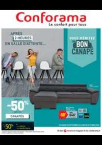 Promos et remises Conforama ENGLOS : Vouz méritez un bon canapé