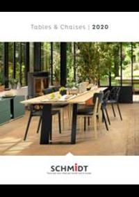 Prospectus Cuisines Schmidt AUGNY : Les tables et chaises 2020