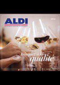 Prospectus Aldi ANDERLECHT Renard : Trinquez à la qualité