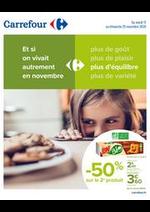 Promos et remises Carrefour : Manger Sain Novembre