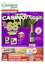 Prospectus Géant Casino : Le mois Casinomagic
