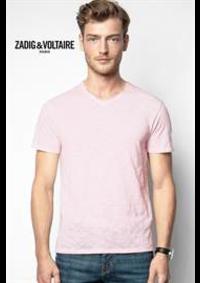 Prospectus Zadig et Voltaire PARIS : Collection T-Shirts / Homme