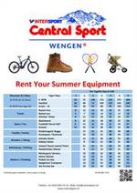 Tarifs  : Central Sport