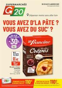 Prospectus G20 PARIS 4 St-Antoine : Vouz avez d'la pâte ? vous avez du suc?