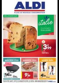 Prospectus Aldi Longjumeau : L'italie - Cuisines d'ailleurs