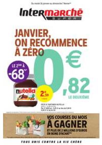 Prospectus Intermarché Super Chilly Mazarin : JANVIER, ON RECOMMENCE À ZÉRO