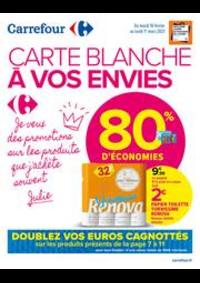 Promos et remises Carrefour Market TREMBLAY EN FRANCE : CARTE BLANCHE A VOS ENVIES