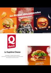 Prospectus Quick LA COURNEUVE : Le Retour des Légendes
