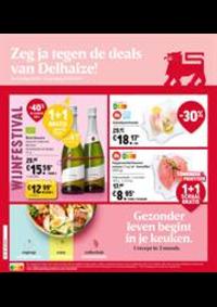 Prospectus Supermarché Delhaize Laeken : Folder Delhaize