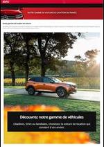 Prospectus Avis : Notre gamme de location de voiture