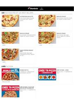 Prospectus Domino's pizza : La carte