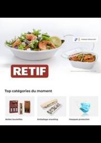 Prospectus Retif Paris : Bols et barquettes
