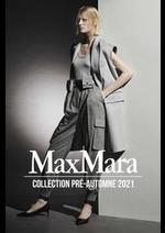 Prospectus Max Mara : Collection Pré-Automne 2021