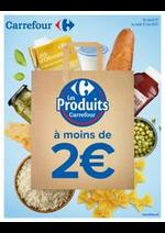 Promos et remises  : Les Produits Carrefour à moins de 2€
