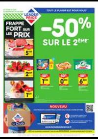 Prospectus Leader Price Paris 99 BOULEVARD MAGENTA : -50% sur le 2ème