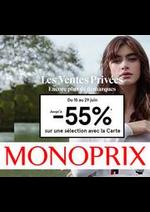 Prospectus Monoprix : Jusqu'à -55%