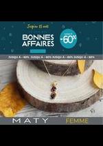 Prospectus Maty : BONNES AFFAIRES FEMME