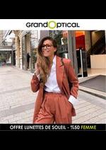 Prospectus Grand Optical : OFFRE LUNETTES DE SOLEIL - %50 FEMME
