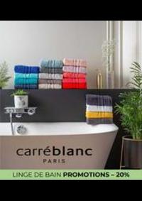 Prospectus Carré blanc Paris BOURGES : LINGE DE BAIN PROMOTIONS – 20%