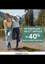 Prospectus Cache Cache : Un pantalon + un 2ème article = -40% sur le moins cher des 2