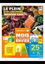 Prospectus Carrefour : LE PLEIN D'ECONOMIES MANGER SAIN