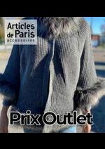 Prospectus Articles de Paris : Prix Outlet