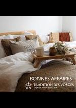 Prospectus Tradition des Vosges : BONNES AFFAIRES