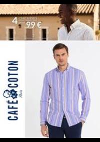 Prospectus Café Coton Franconville : Café Coton 4 Chemises 99€