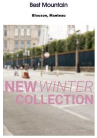 Prospectus Best Mountain PARIS 28 boulevard Saint Michel : New winter collection