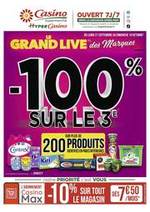 Prospectus Supermarchés Casino : Le grand live des marques