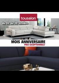 Prospectus Tousalon Dole - Choisey : Moix Anniversaire Pris Excepionnels